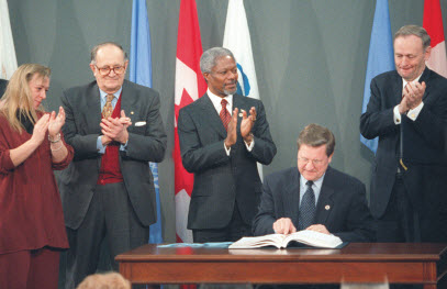 Signing of the Anti-Personnel Mine Ban Convention