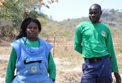 NPA deminers in Burma valley, Zimbabwe