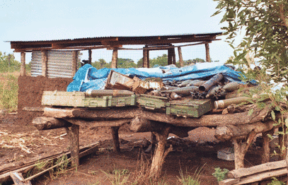 Ammunition storage in South Sudan